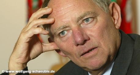 Федеральный министр финансов Германии Вольфганг Шойбле