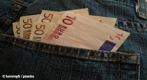 деньги, евро, карман