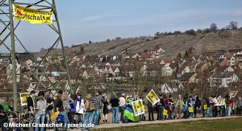 Одна из демонстраций противников атомной энергетики Германии