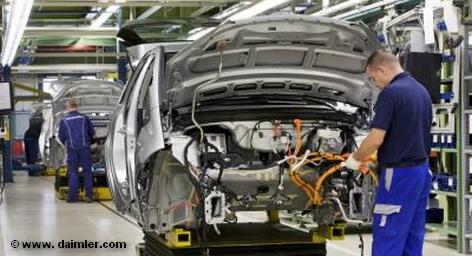 В сборочном цеху корпорации Daimler