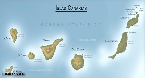 Карта Канарского архипелага