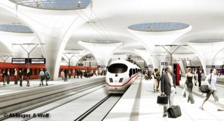 """Технико-экономическое обоснование строительного проекта """"Штутгарт 21"""" по возведению нового главного вокзала в столице федеральной земли Баден-Вюртемберг прошло оценку независимых экспертов. Новый подземный вокзал действительно способен пропустить на 30 процентов больше поездов. В концерне Deutsche Bahn, который ведет строительство, пока не комментируют эту информацию."""