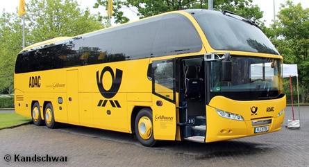 Междугородний автобус совместного предприятия ADAC и Deutsche Post