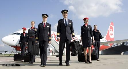 Экипаж одного из самолетов авиакомпании Air Berlin