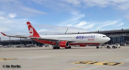 Один из самолетов авиакомпании Air Berlin