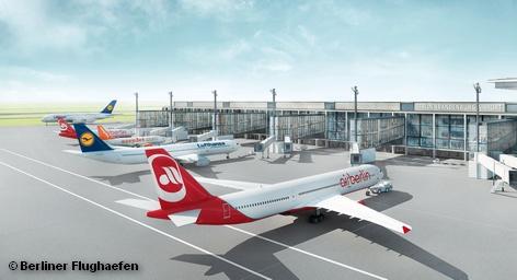 Компьютерное моделирование главного причала нового международного аэропорта Берлина и Бранденбурга