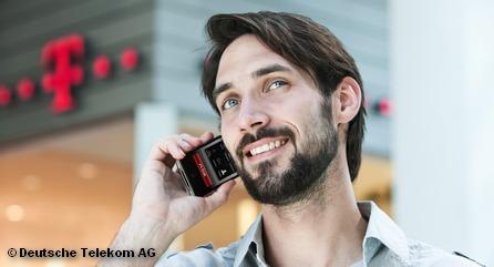 Плакат рекламной кампании iPhone от Deutsche Telekom