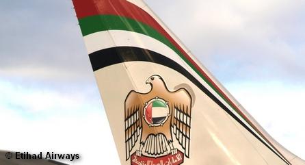 Хвост самолета авиакомпании Etihad Airways