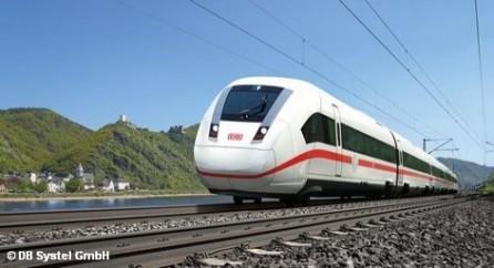 Поезд концерна Немецких железных дорог Deutsche Bahn ICX