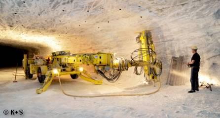 Добыча калийных солей K+S