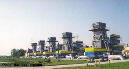 Компрессорная станция в городе Ужгород, принадлежащая национальной энергетической компании Украины «Нафтогаз»