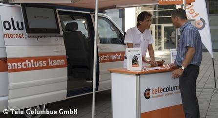 Рекламная акция оператора кабельного телевидения и фиксированной телефонии Tele Columbus