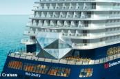 Tui Cruises готовится спустить на воду круизный лайнер Mein Schiff 3, корма которого выполнена хотя и из стекла, но в форме алмаза.
