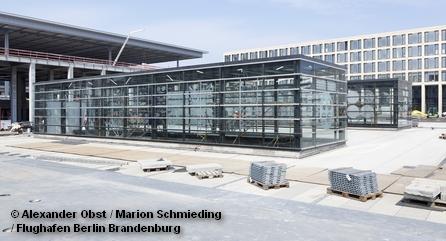 Стройплощадка нового аэропорта Берлина и Бранденбурга