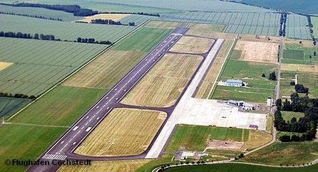 Вид на летное поле аэропорта Магдебург / Кохштедт