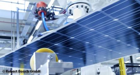 Цех Bosch по производству модулей солнечных батарей.