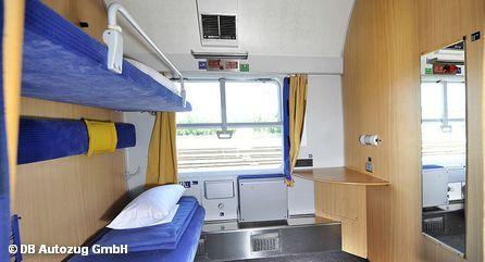 Спальный вагон концерна Немецких железных дорог Deutsche Bahn