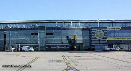 Терминал аэропорта Дортмунда со стороны летного поля