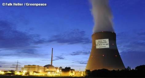 """Акция протеста Greenpeace на АЭС """"Изар 2"""""""