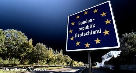 Так выглядит внутренняя граница ФРГ согласно Шенгенскому соглашению