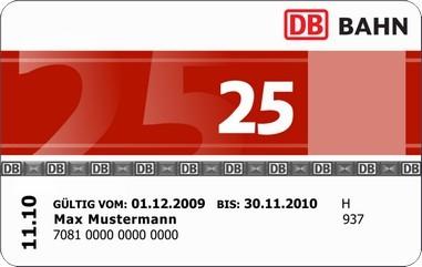 Карта клиента концерна немецких железных дорог Deutsche Bahn