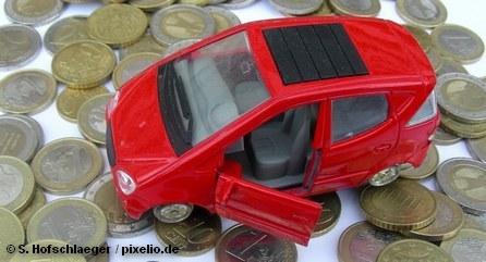 Коллаж «Автомобиль и деньги»