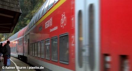 Двухэтажный региональный поезд концерна Немецких железных дорог Deutsche Bahn