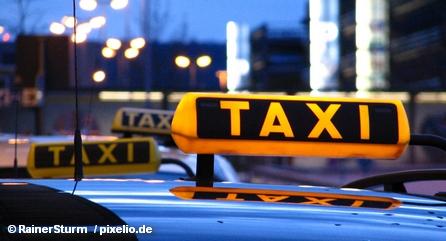 На стоянке такси