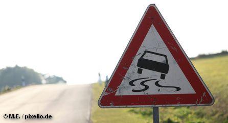 """Дорожный знак """"Скользкая дорога"""""""
